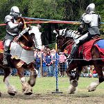 Photo of knights jousting