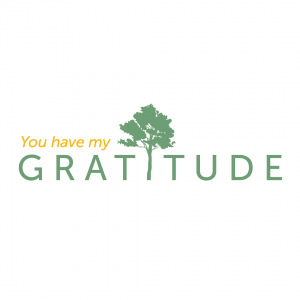 Gratitude Card Design: You have my gratitude